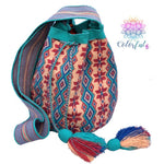 Premium Crochet Bag - Crossbody/Shoulder Bag- Authentic Single Thread Wayuu Bag - Style MW1H06
