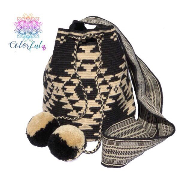 Special Edition Crochet Bag - Black Crossbody Boho Bag -  Style MWDE23