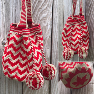 SCARLET CRUSH - Crochet Bags - Crossbody Boho Bags
