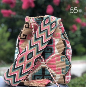 Colorful 4U | Desert Dreams Bag | Crossbody Boho Bags for Fall | Wayuu Mochila | Bohemian Bucket Bag 65a