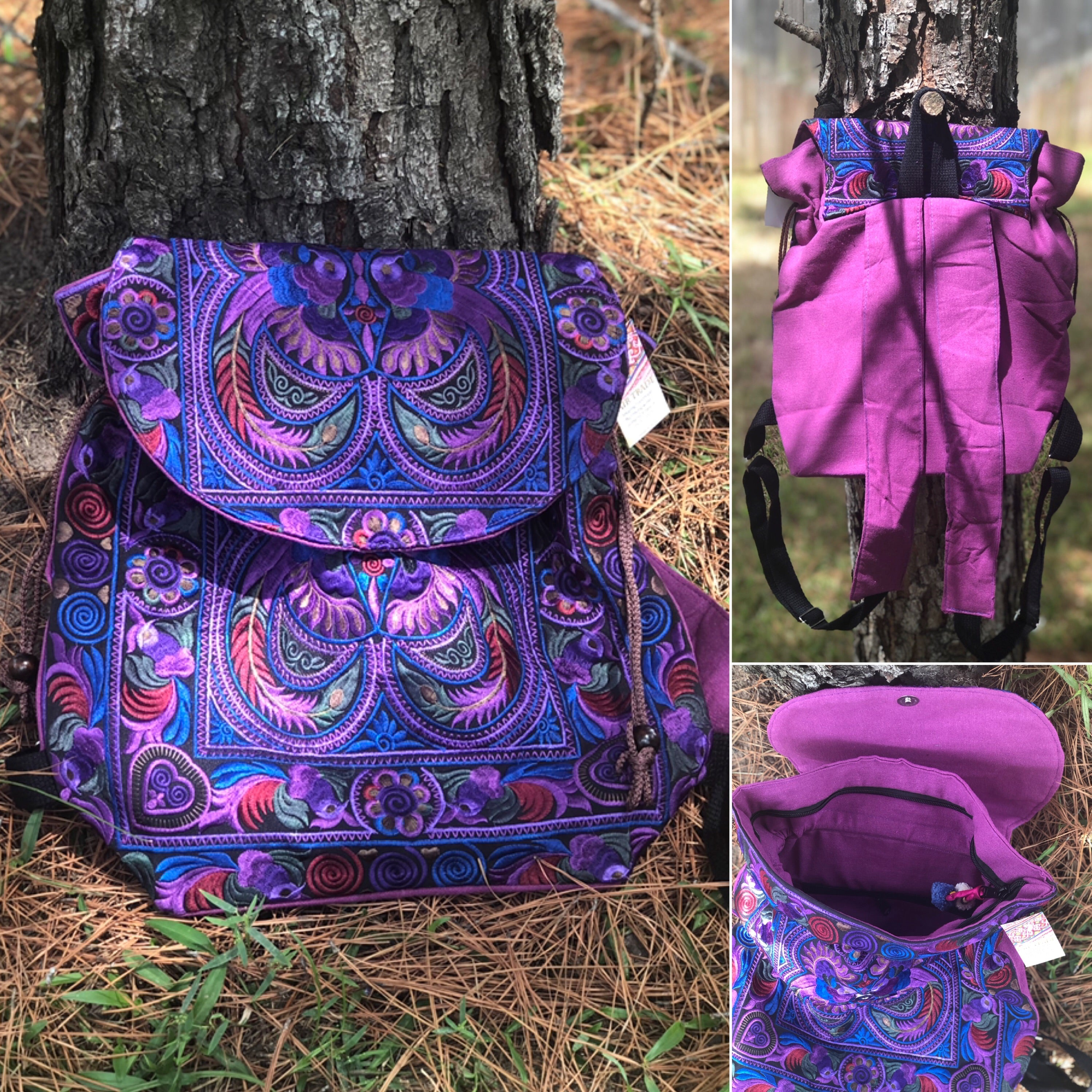 Colorful Bohemian Backpacks - Embroidered Boho Backpack