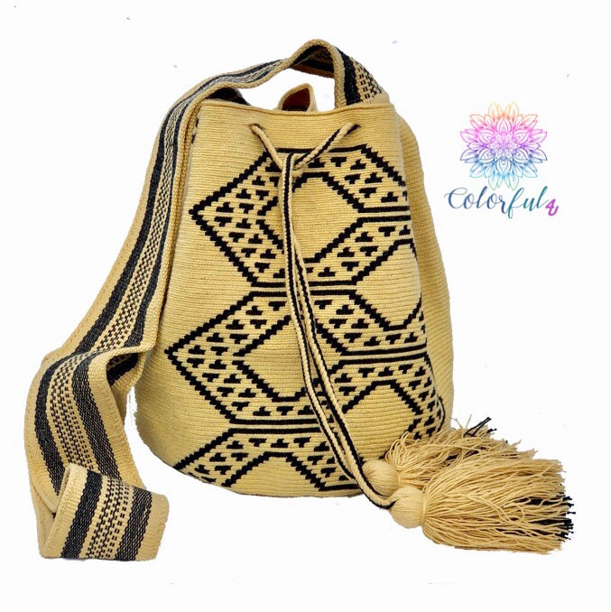 Premium Crochet Bag -  Crossbody/Shoulder Bag- Authentic Single Thread Wayuu Bag - Style MW1H14