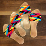 Colorful Handwoven Sandals - Boho Flat Sandals SWF021