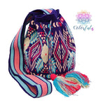 Premium Crochet Bag - Purple Crossbody/Shoulder Bag- Authentic Single Thread Wayuu Bag - Style MW1H10