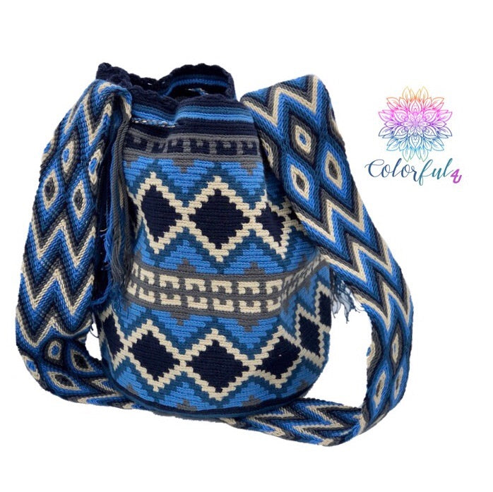 Colorful Crochet Bag - Crossbody Boho Bag - Style MWD054