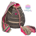 Premium Crochet Bag - Crossbody/Shoulder Bag- Authentic Single Thread Wayuu Bag - Style MW1H04