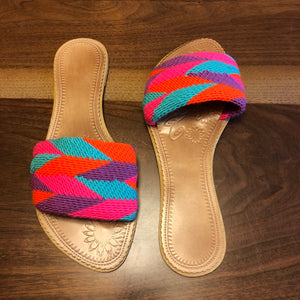 Colorful Handwoven Sandals - Boho Flat Sandals SWF020