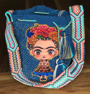 Custom Frida Tribute Bags - Special Edition Crochet Bags - MWDE51-C