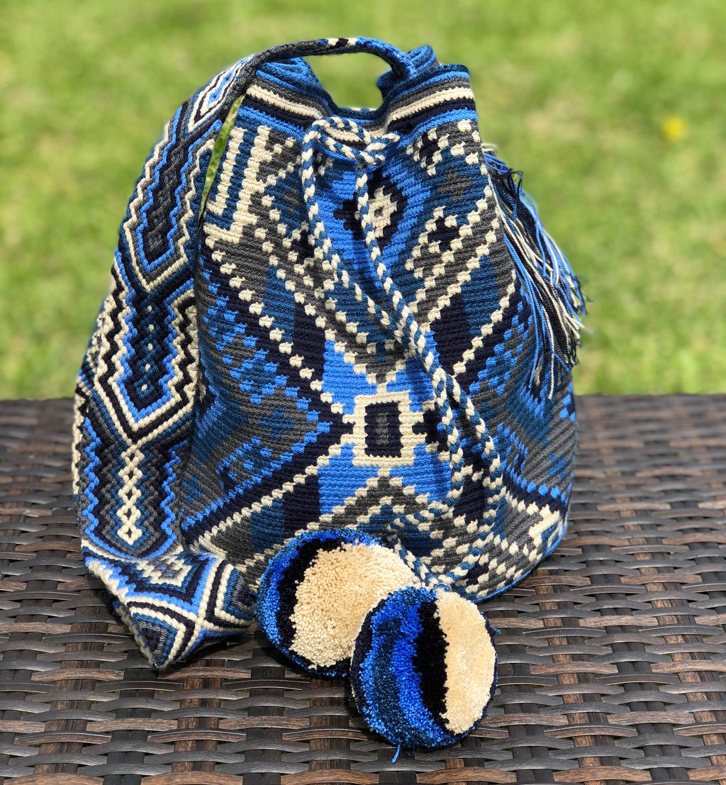 Special Edition Crochet Bag - Blue Crossbody Bag -  Boho Style MWDE30