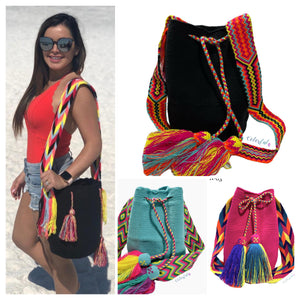 Summer Crochet Bags | Solid Bright Colors | Large