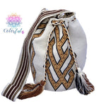 Premium Crochet Bag - Crossbody/Shoulder Bag- Authentic Single Thread Wayuu Bag - Style MW1H08