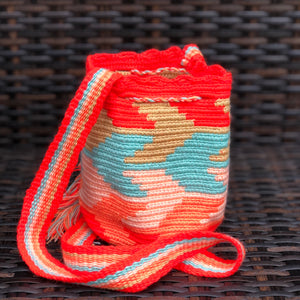 Colorful Mini Crochet Bag - Authentic Wayuu Mochila Bag -  Style MWPD31
