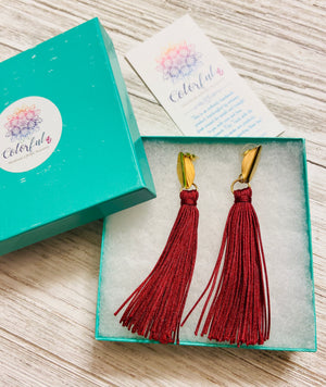 Colorful Tassel Earrings