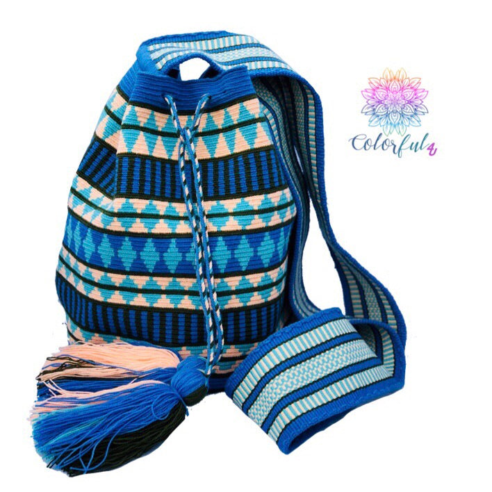 Premium Crochet Bag - Crossbody/Shoulder Bag- Authentic Single Thread Wayuu Bag - Style MW1H09