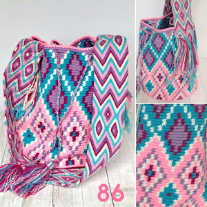Spring Fever Crochet Bags-Large Pink