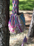 Colorful Crochet Bag - Crossbody Boho Bag -  Shades of Brown Style MWM0083