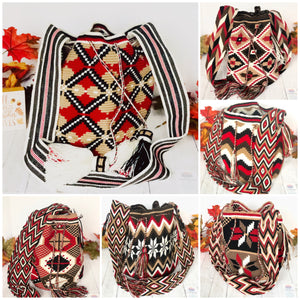 Red Handbags for Fall/Winter | Crossbody Crochet Bag | Boho Bag |Wayuu