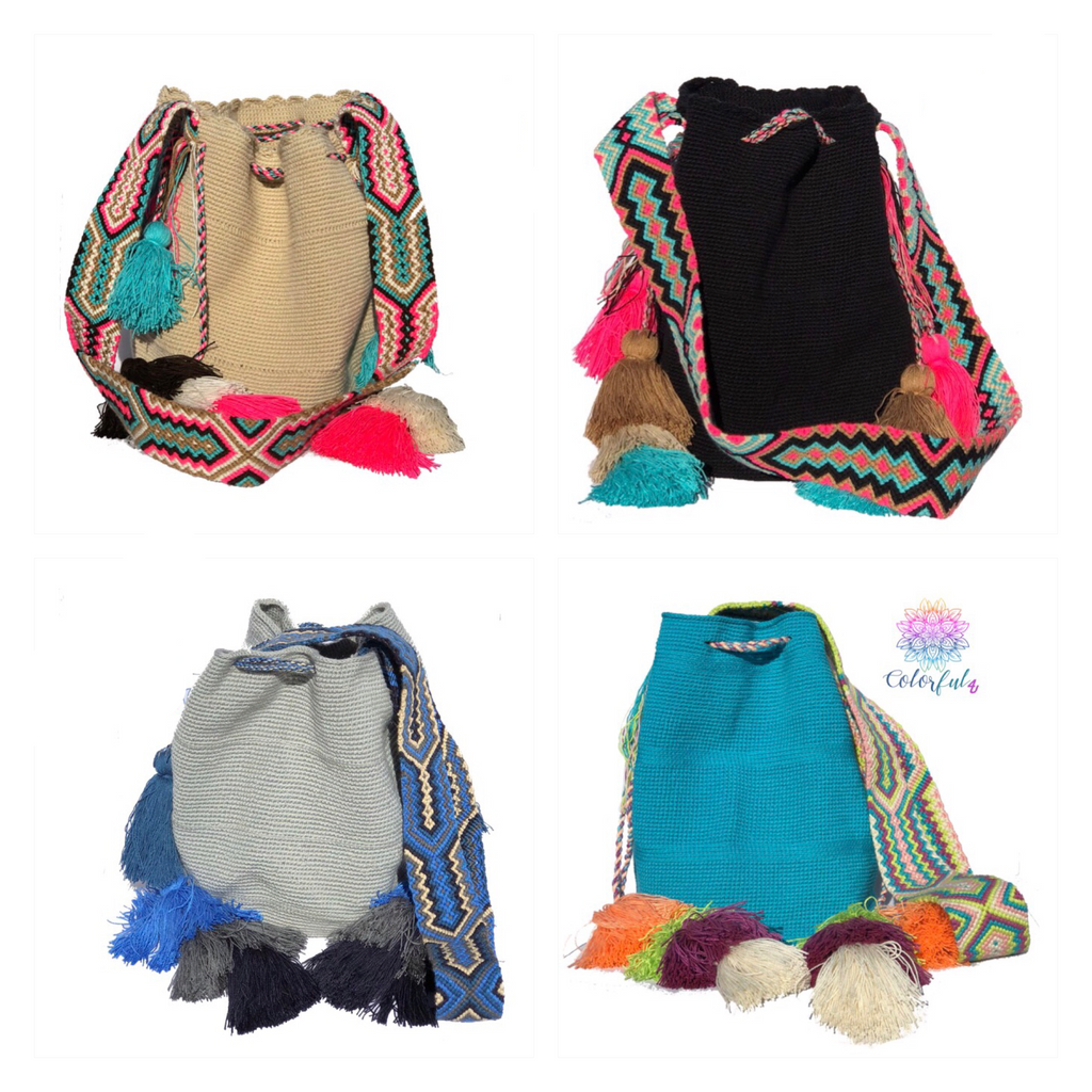 Colorful Crochet Bags with Tassels - Boho Style MWUB