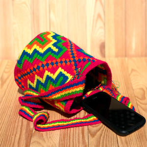 SUMMER Mini Crochet Bag - Authentic Wayuu Mochila Bag -  Beach Style-MWPD64