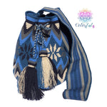 Special Edition Crochet Bag - Shades of Blue Crossbody Boho Bag -  Style MWDE16