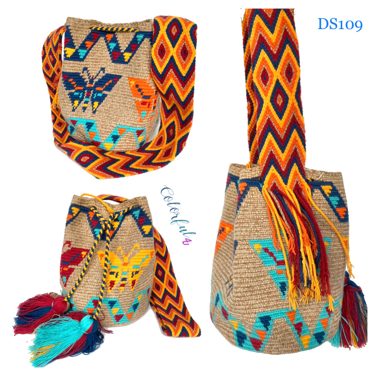 Desert Sunset Beach Bags - Crossbody Large