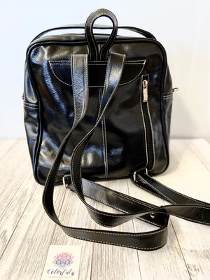 Mola Leather Travel Backpack