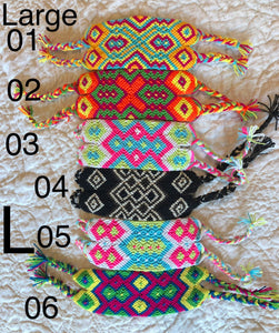 Wide Friendship Bracelets | Colorful wrist bands | Macrame Bracelet | Wayuu