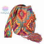 Colorful Crochet Bag - Crossbody Boho Bag -  Shades of Brown Style MWM0034