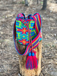 Premium Crochet Bag -  Crossbody/Shoulder Bag- Authentic Single Thread Wayuu Bag - Style MW1H17