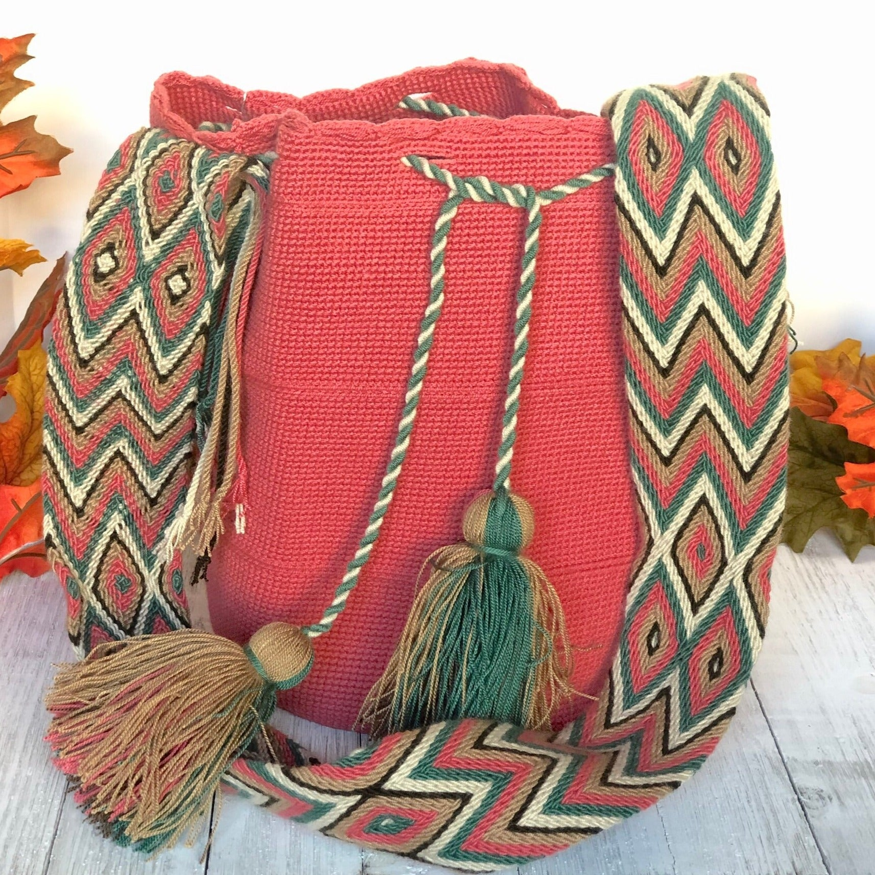 Rose Crochet Bag | Crossbody Boho Bags | Wayuu Bags