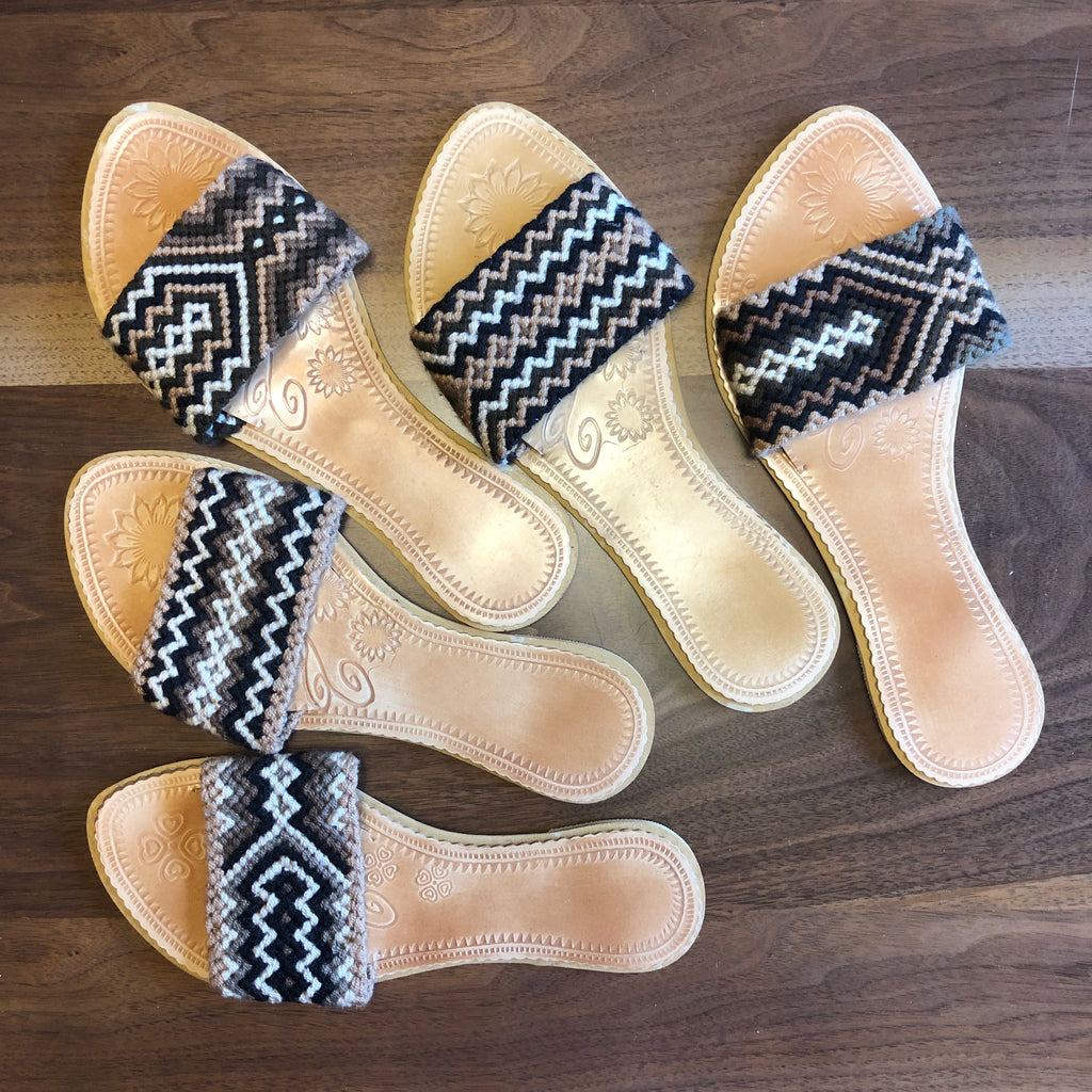 Colorful Handwoven Sandals - Boho Flat Sandals SWF019