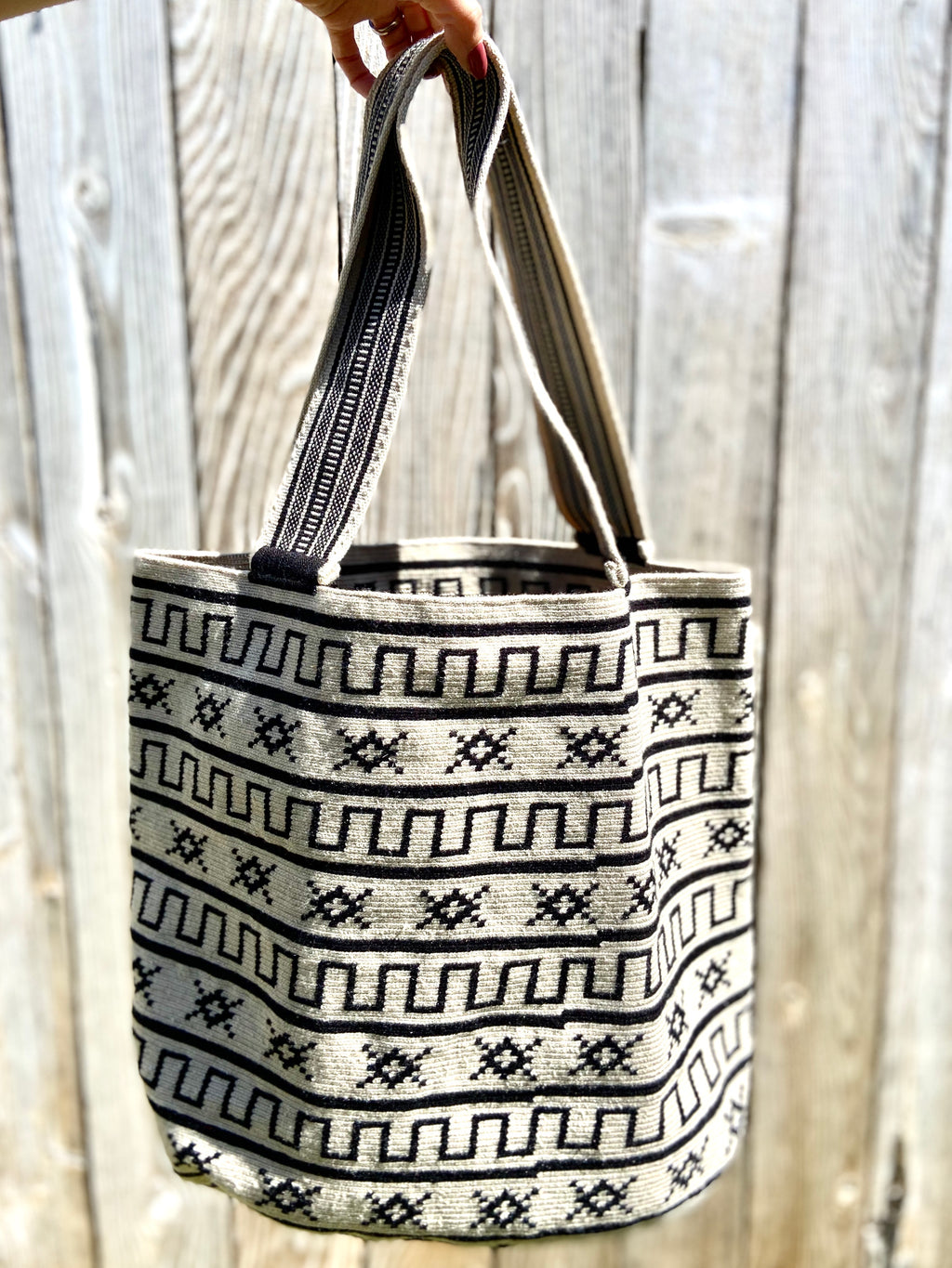 Perissa Beach Premium Tote - Single Thread Crochet