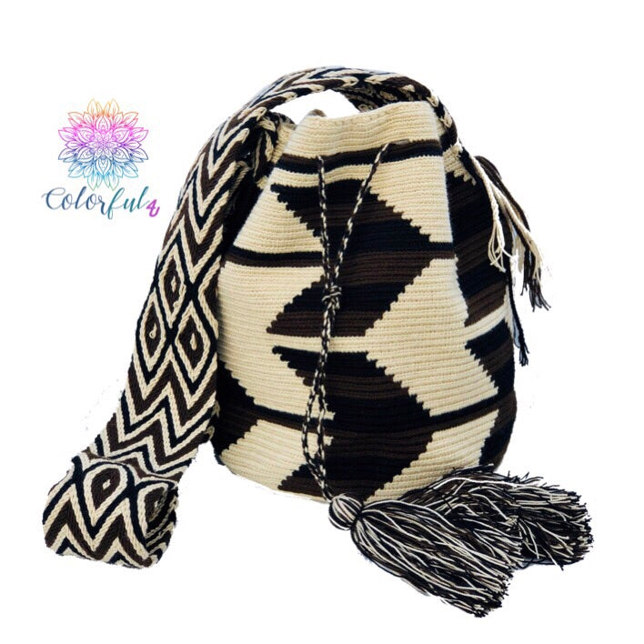 Colorful Crochet Bag - Crossbody Boho Bag - Style MWD053