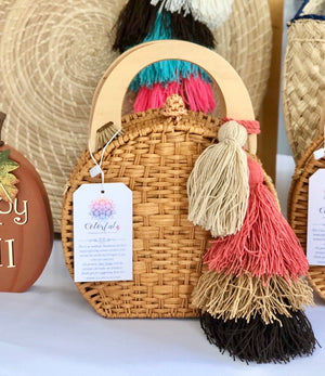 New Arrivals-Trending Summer Bags - Rounded Straw Basket