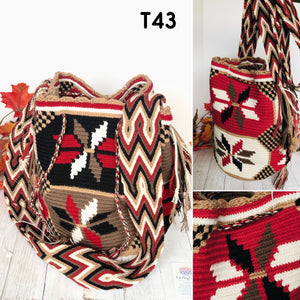 Cute Red Handbag for Fall/Winter | Crossbody Crochet Bag | Boho Bag | Wayuu Mochila
