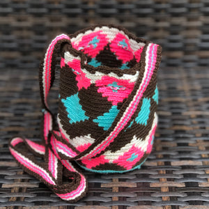 Colorful Mini Crochet Bag - Authentic Wayuu Mochilap Bag -  Style MWPD42