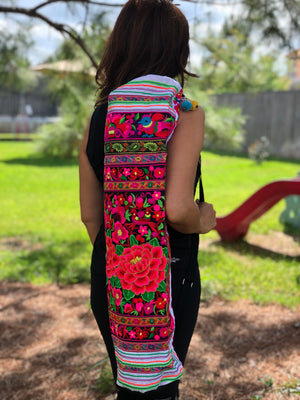 Colorful Embroidered Yoga-Mat Carrier - Boho Style Yoga Mat Bag