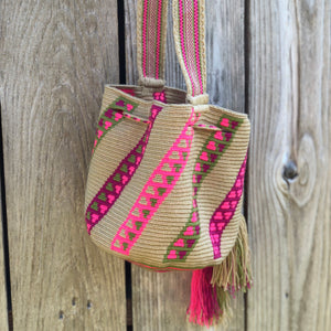PREMIUM Mini/Medium Crochet Bag - Authentic One-thread Wayuu Bag -  Style MWPP11
