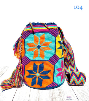 Caribbean Sunset Crochet Bags - Large