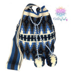 Special Design Crochet Bag - Blue Crossbody Boho Bag -  Style MWDE12