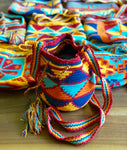 Mini Crochet Bags - Authentic Wayuu Mochila Bag - Summer Sunset color