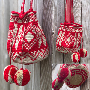 SCARLET CRUSH - Large Crochet Bags