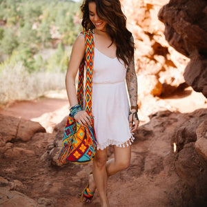 Autumn Colors Crochet Bags - Crossbody Boho Bags - Style MWD027
