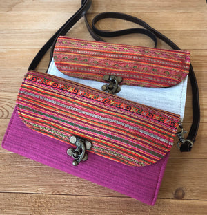 Colorful Bohemian Bag/Clutch - Embroidered Purse/Wallet