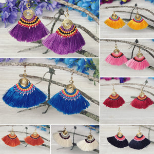 Colorful Tassel Earrings - Tribal Style