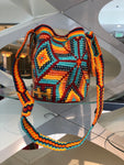 Medium Desert Sunset Crystal-Embellished Crochet Bag