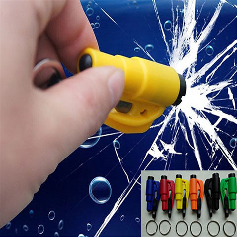 Ultimate Escape Tool - Keychain Car Emergency Window Breaking Tool and Seat Belt Cutter