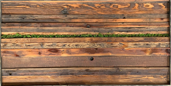Reclaimed wood art: On The Other Side