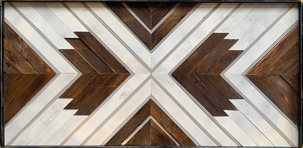 Reclaimed Wood Art: Bluster, stone gray accent