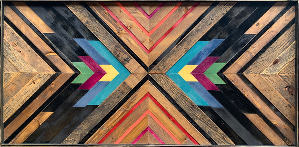 "Reclaimed wood art: ""Bright Future"" Awe & Wonder collection"